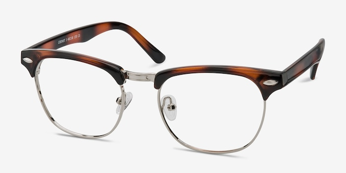 Coexist Tortoise Metal Eyeglass Frames from EyeBuyDirect, Angle View