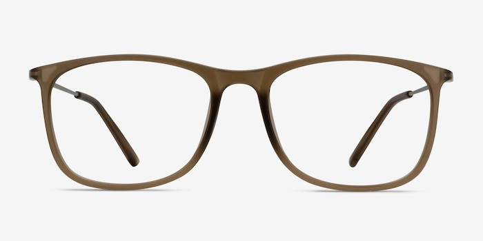 Hurricane Matte Cinnamon Metal Eyeglass Frames from EyeBuyDirect, Front View