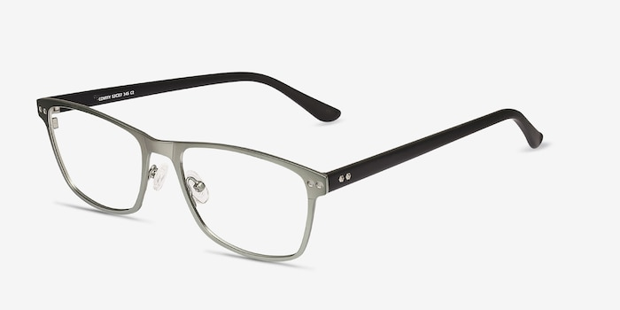 Comity Light Green Acetate-metal Eyeglass Frames from EyeBuyDirect, Angle View