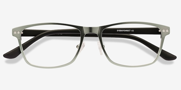 Comity Light Green Acetate-metal Eyeglass Frames from EyeBuyDirect, Closed View