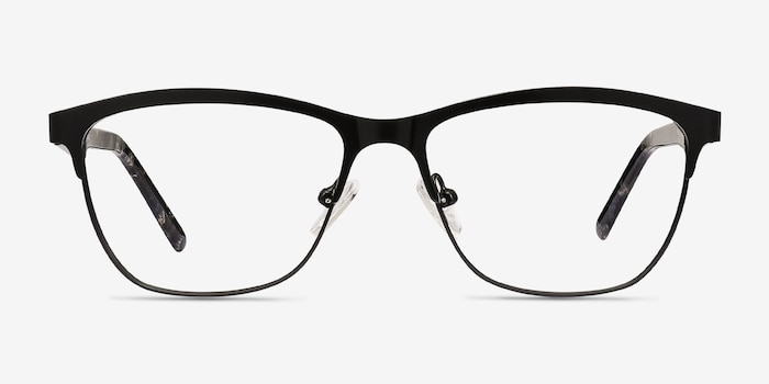 Volary Black Acetate Eyeglass Frames from EyeBuyDirect, Front View