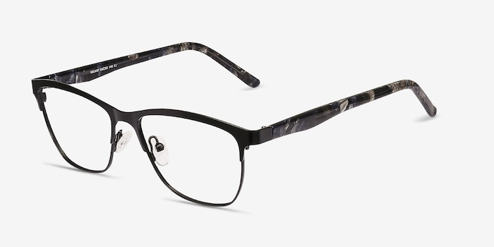 Volary Black Acetate Eyeglass Frames from EyeBuyDirect, Angle View