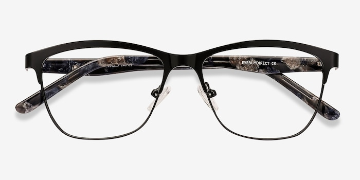 Volary Black Acetate Eyeglass Frames from EyeBuyDirect, Closed View