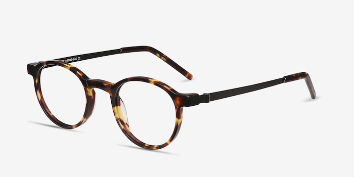 Anomaly Tortoise Acetate Eyeglass Frames from EyeBuyDirect, Angle View
