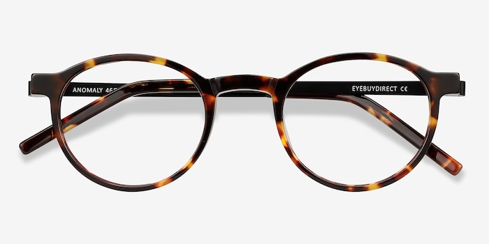 Anomaly Tortoise Acetate Eyeglass Frames from EyeBuyDirect, Closed View