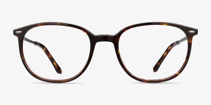 Eros Tortoise Acetate Eyeglass Frames from EyeBuyDirect, Front View