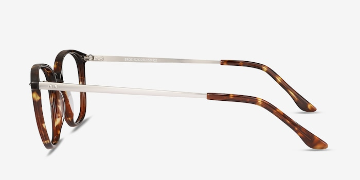 Eros Tortoise Metal Eyeglass Frames from EyeBuyDirect, Side View