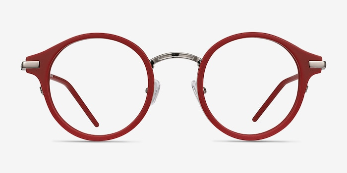 Roto Red Acetate Eyeglass Frames from EyeBuyDirect, Front View