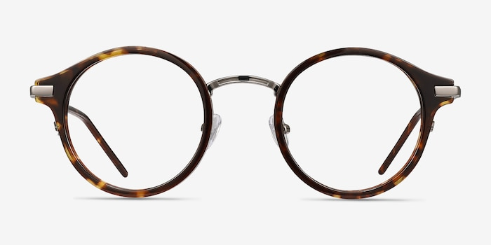 Roto Tortoise Acetate Eyeglass Frames from EyeBuyDirect, Front View