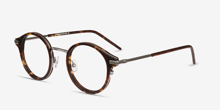 Roto Tortoise Metal Eyeglass Frames from EyeBuyDirect, Angle View