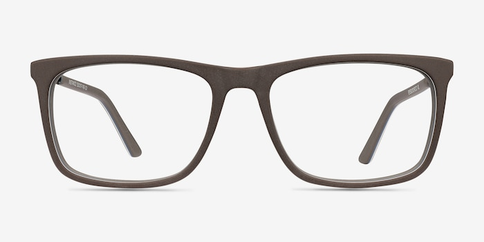 Instance Brown Metal Eyeglass Frames from EyeBuyDirect, Front View