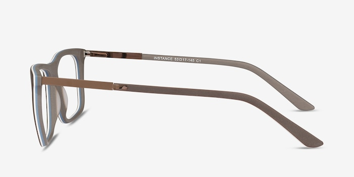 Instance Brown Acetate Eyeglass Frames from EyeBuyDirect, Side View