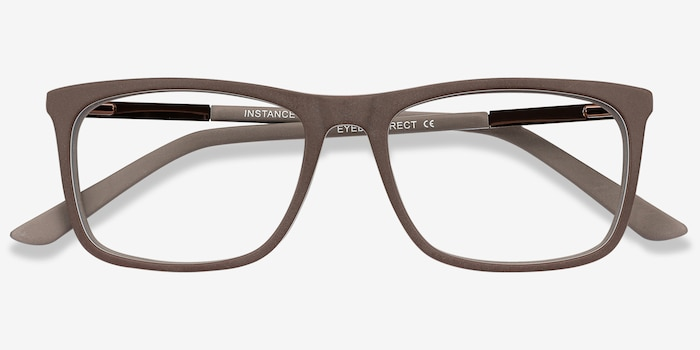 Instance Brown Acetate Eyeglass Frames from EyeBuyDirect, Closed View