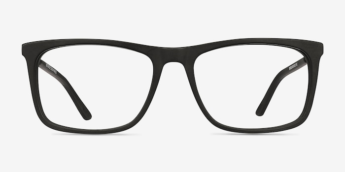 Instance Black Acetate Eyeglass Frames from EyeBuyDirect, Front View