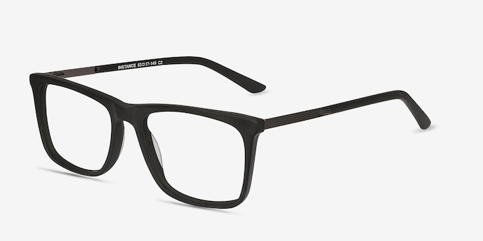 Instance Black Acetate Eyeglass Frames from EyeBuyDirect, Angle View