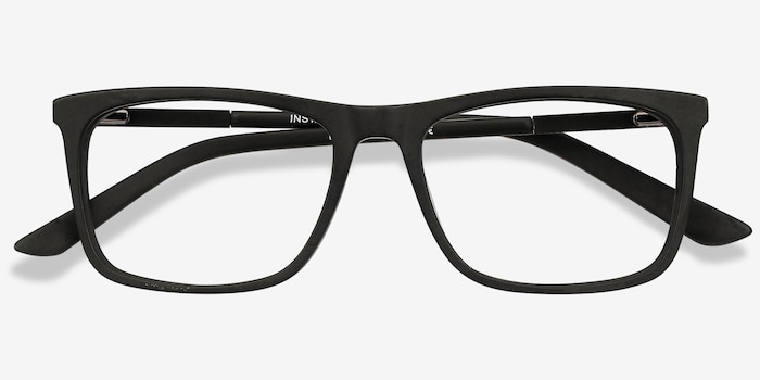 Instance Black Acetate Eyeglass Frames from EyeBuyDirect, Closed View