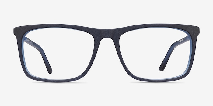 Instance Blue Acetate-metal Eyeglass Frames from EyeBuyDirect, Front View