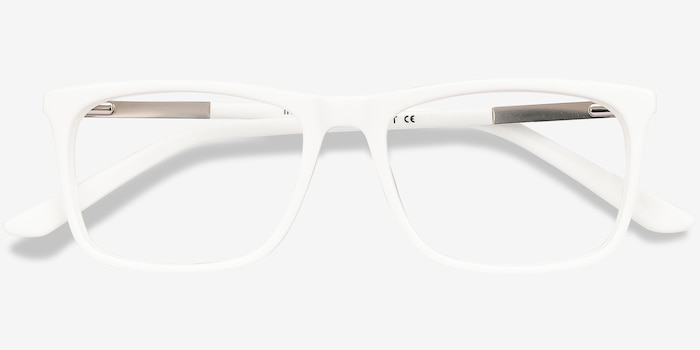 Instance White Acetate Eyeglass Frames from EyeBuyDirect, Closed View