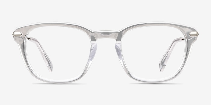 Quazar Clear Acetate Eyeglass Frames from EyeBuyDirect, Front View