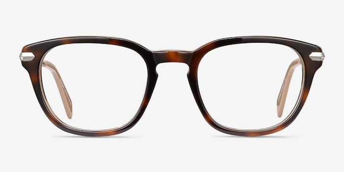 Quazar Tortoise Acetate Eyeglass Frames from EyeBuyDirect, Front View