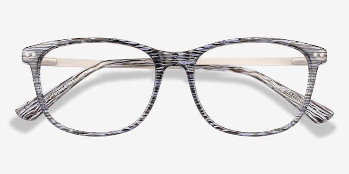 4caf77c783 Grid Striped Acetate Eyeglass Frames from EyeBuyDirect