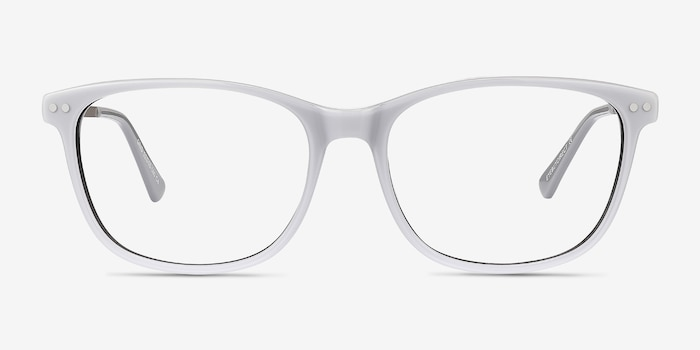 Grid Gray Acetate Eyeglass Frames from EyeBuyDirect, Front View