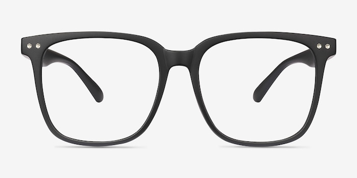 Piano Black Plastic Eyeglass Frames from EyeBuyDirect, Front View