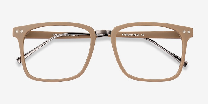 Forte Brown Plastic Eyeglass Frames from EyeBuyDirect, Closed View