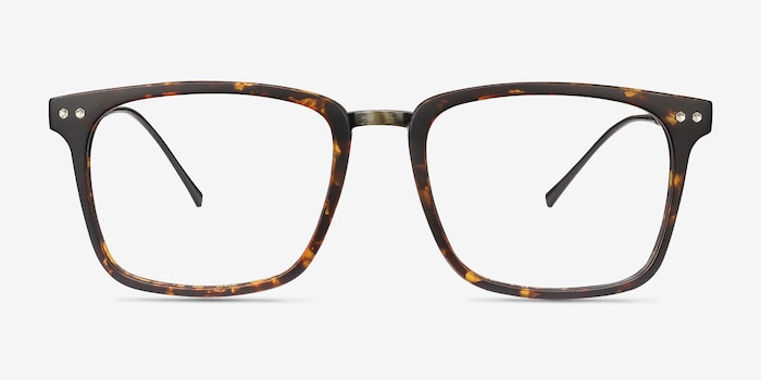 Forte Tortoise Plastic Eyeglass Frames from EyeBuyDirect, Front View