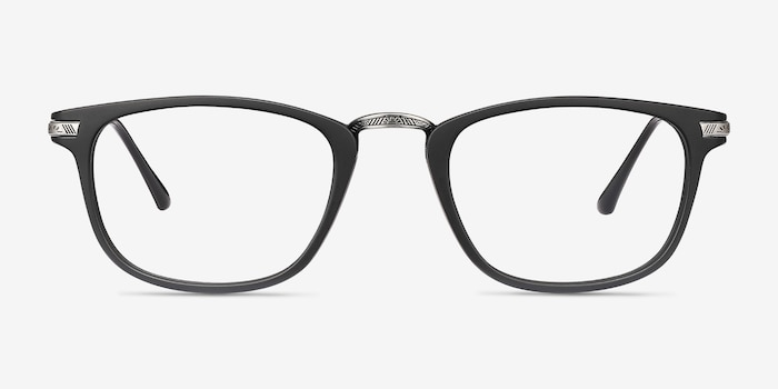 Catcher Black Metal Eyeglass Frames from EyeBuyDirect, Front View