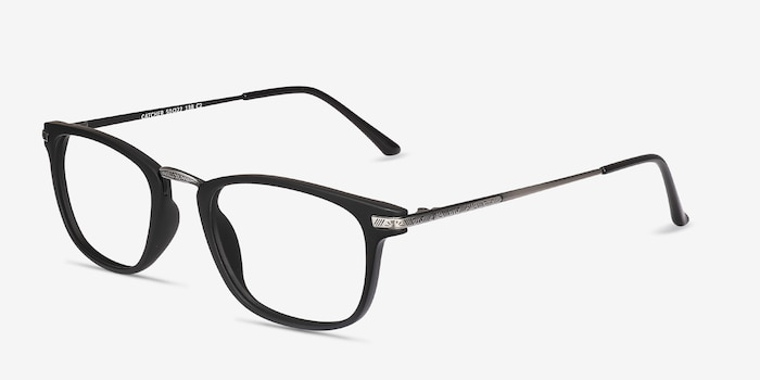 Catcher Black Plastic-metal Eyeglass Frames from EyeBuyDirect, Angle View