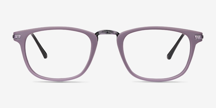 Catcher Purple Metal Eyeglass Frames from EyeBuyDirect, Front View