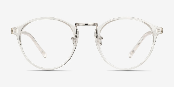 Chillax Clear Metal Eyeglass Frames from EyeBuyDirect, Front View