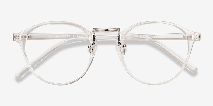 Chillax Clear Plastic Eyeglass Frames from EyeBuyDirect, Closed View