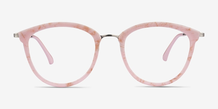 Lightworks Pink Metal Eyeglass Frames from EyeBuyDirect, Front View