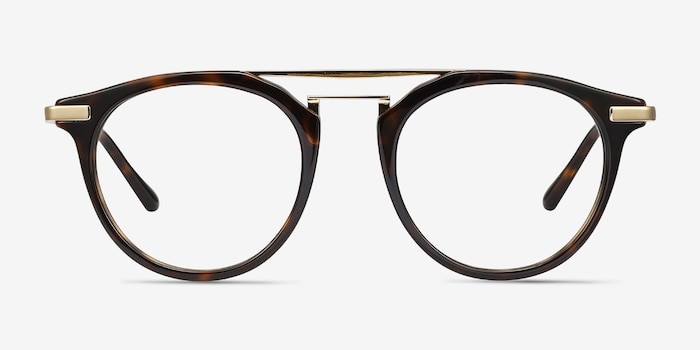 Alba Tortoise Acetate Eyeglass Frames from EyeBuyDirect, Front View