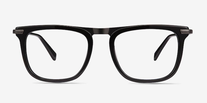 bba9f5c4d5 Kompa Black Acetate Eyeglass Frames from EyeBuyDirect