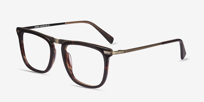 Kompa Tortoise Acetate Eyeglass Frames from EyeBuyDirect, Angle View