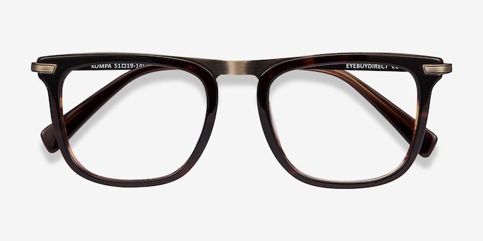Kompa Tortoise Acetate Eyeglass Frames from EyeBuyDirect, Closed View