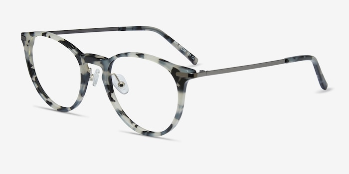 Iris Tortoise Acetate Eyeglass Frames from EyeBuyDirect, Angle View