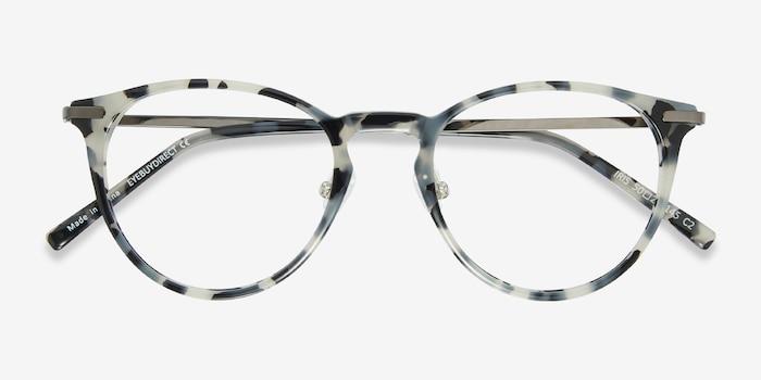 Iris Ecaille Acétate Montures de Lunettes d'EyeBuyDirect, Vue Rapprochée