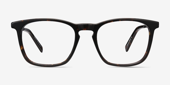 Tuesday Tortoise Acetate Eyeglass Frames from EyeBuyDirect, Front View