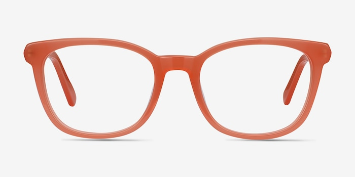 c4e131d4d Kat Orange Acetate Eyeglass Frames from EyeBuyDirect, Front View