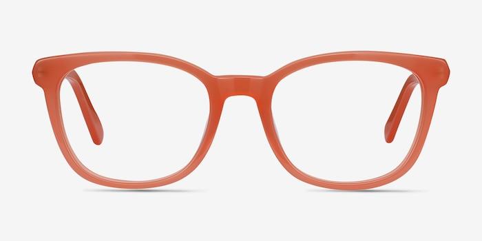 Kat Orange Acetate Eyeglass Frames from EyeBuyDirect, Front View