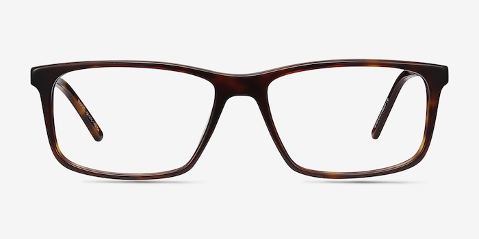 Marvel Tortoise Acetate Eyeglass Frames from EyeBuyDirect, Front View
