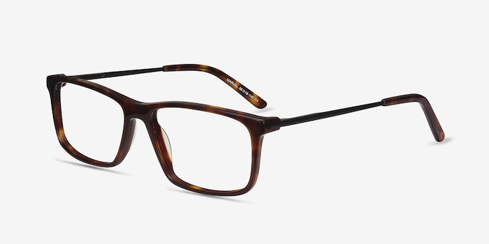 Marvel Tortoise Acetate Eyeglass Frames from EyeBuyDirect, Angle View