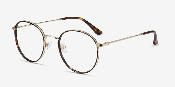 Alchemist Tortoise Acetate Eyeglass Frames from EyeBuyDirect, Angle View