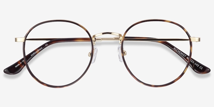 Alchemist Tortoise Acetate Eyeglass Frames from EyeBuyDirect, Closed View