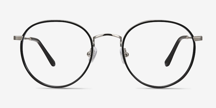 Alchemist Black Acetate Eyeglass Frames from EyeBuyDirect, Front View