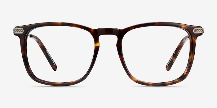 Glory Tortoise Acetate Eyeglass Frames from EyeBuyDirect, Front View